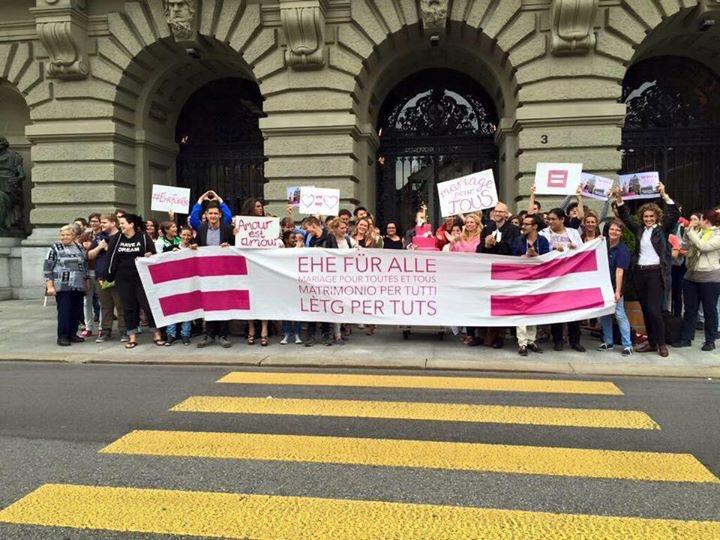 Demonstration zur Ehe für Alle